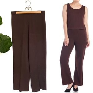 St. John Collection Brown Wool Knit Santana Pants